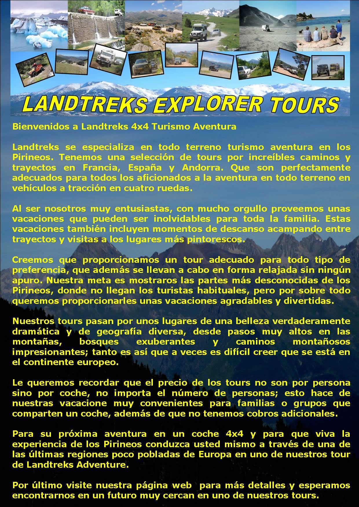 Landtreks - Specialists in Pyrenees 4x4 Adventure Tours - Spain ...